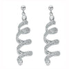 9ct White Gold 0.75ct Diamond Spiral Drop Earrings TGC-DER0108
