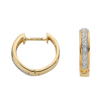 9ct Yellow Gold 0.10ct Diamond Earrings TGC-DER0159