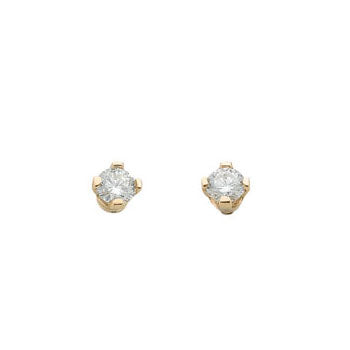 9ct Yellow Gold 0.15ct Claw Set Diamond Stud Earrings TGC-DER0015