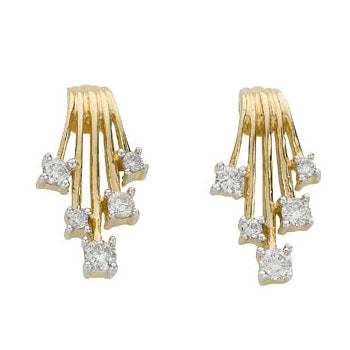 9ct Yellow Gold 0.25ct Diamond Studs Earrings TGC-DER0161