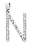 9ct White Gold 0.24ct Diamond N Initial TGC-DIN0001N
