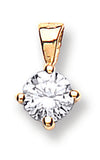18ct Yellow Gold 0.25ct Claw Set Diamond Pendant TGC-DPD0002