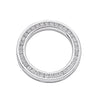 18ct White Gold 0.50ct Diamond Circle Pendant TGC-DPD0264