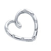 18ct White Gold 0.10ct Diamond Heart Pendant TGC-DPD0305