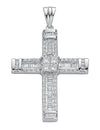 18ct White Gold 1.52ct Brilliant, Princess & Baguette Diamond Cross TGC-DPD0307
