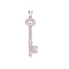 18ct White Gold 0.22ct Diamond Key TGC-DPD0348