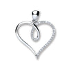9ct White Gold 0.10ct Diamond Heart Pendant TGC-DPD0372