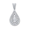 18ct White Gold 1.30ct Diamond Drop Pendant TGC-DPD0374