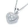 18ct White Gold 0.40ct Diamond Heart Pendant TGC-DPD0376