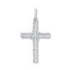 9ct White Gold 0.25ct Diamond Cross Pendant TGC-DPD0407
