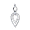 9ct White Gold 0.25ct Diamond Drop Pendant TGC-DPD0408
