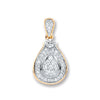 9ct Yellow Gold 0.25ct Diamond Drop Pendant TGC-DPD0412