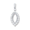 18ct White Gold 0.55ct Diamond Drop Pendant TGC-DPD0415