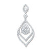 18ct White Gold 1.60ct Diamond Drop Pendant TGC-DPD0417
