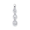 9ct White Gold 0.23ct Diamond Trilogy Drop Pendant TGC-DPD0423