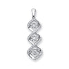 9ct White Gold 0.25ct Dancing Diamond Drop Pendant TGC-DPD0426