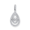 9ct White Gold 0.38ct Dancing Diamond Drop Pendant TGC-DPD0429