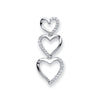9ct White Gold 0.15ct Diamond Heart Pendant TGC-DPD0432