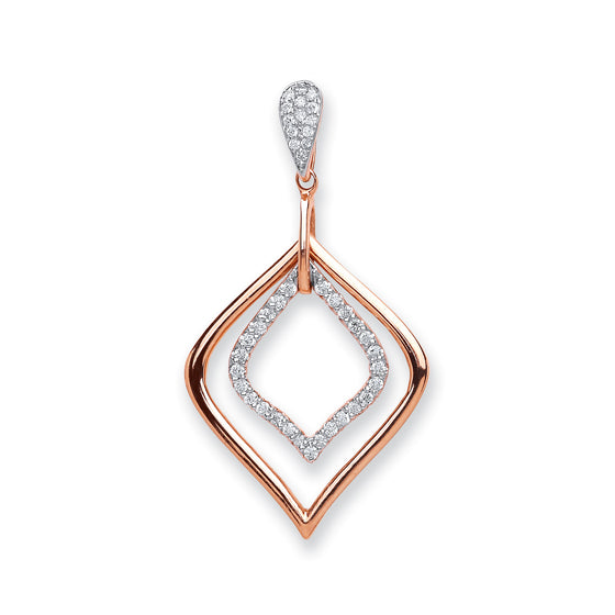 18ct Rose Gold 0.25ct Diamond Pendant TGC-DPD0435