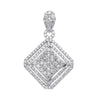 18ct White Gold 2.00ct Square Pendant TGC-DPD0441