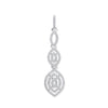 9ct White Gold Drop 0.25ct Diamond Pendant  TGC-DPD0443