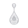 9ct White Gold 0.25ct Pear Shaped Diamond Pendant  TGC-DPD0444