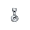 18ct White Gold 0.25ct Rubover Set Diamond Pendant TGC-DPD0136