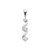 9ct White Gold 0.15ct Diamond Trilogy Pendant TGC-DPD0182