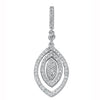 9ct White Gold 0.50ct Diamond Drop Pendant TGC-DPD0256