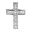 18ct White Gold 1.35ct Brilliant, Princess & Baguette Diamond Cross TGC-DPD0306