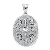 9ct White Gold 0.31ct Diamond Locket Pendant TGC-DPD0316