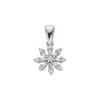 9ct White Gold 0.25ct Diamond Cluster Pendant TGC-DPD0324