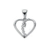 9ct White Gold 0.10ct Diamond Heart Pendant TGC-DPD0326