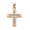9ct Yellow Gold 0.32ct Diamond Cross TGC-DPD0032