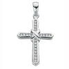 9ct White Gold 0.25ct Diamond Cross TGC-DPD0035