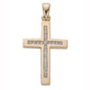 9ct Yellow Gold 0.35ct Diamond Cross TGC-DPD0041