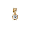 18ct Yellow Gold 0.15ct Rubover Set Diamond Pendant TGC-DPD0006