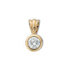 18ct Yellow Gold 0.25ct Rubover Set Diamond Pendant TGC-DPD0007