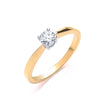 18ct Yellow Gold 0.35ct Diamond Engagement Ring TGC-DR0009