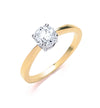18ct Yellow Gold 0.70ct Diamond Engagement Ring TGC-DR0012