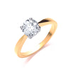18ct Yellow Gold 1.00ct Diamond Engagement Ring TGC-DR0013