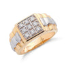 9ct Yellow Gold 0.50ct 9 Stone Gents Diamond Ring TGC-DR0107