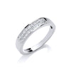 18ct White Gold 0.50ctw Princess Cut 2 Row Diamond Eternity Ring TGC-DR0326
