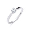 18ct White Gold 0.25ct Diamond Engagement Ring TGC-DR0447