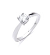 18ct White Gold 0.50ct Diamond Engagement Ring TGC-DR0448