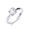 18ct White Gold 1.00ct Diamond Engagement Ring TGC-DR0580