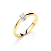 9ct Yellow Gold 0.15ct Diamond Engagement Ring TGC-DR0614