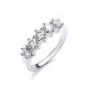 18ct White Gold 1.00ct 5 Stone Diamond Eternity Ring TGC-DR0682