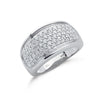 9ct White Gold 1.00ct Diamond Bombay Ring TGC-DR0713
