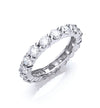 18ct White Gold 3.00ct Full Diamond Eternity Ring TGC-DR0720
